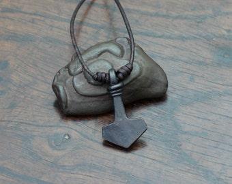 Small Iron Viking Thor's Hammer Pendant