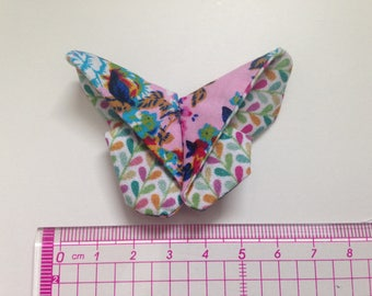 Butterfly origami multicolored geometric and foliage