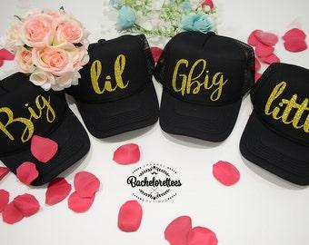 Little Big GBig GGBig Sorority hats, sorority hats, Little Big, Greek hats, Little sister, Big Sister, Big and Little hats, Reveal hats