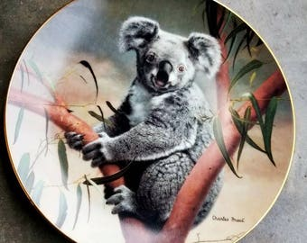 Vintage Charles Frace Commemorative Plate The Koala #5018F