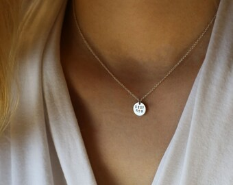 BEST MOM Necklace - Mother's day Gift, custom hand stamped necklace in gold filled and sterling silver