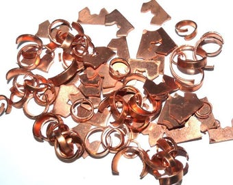 Set of small parts copper to create orgone for creating orgonite inclusion jewelry
