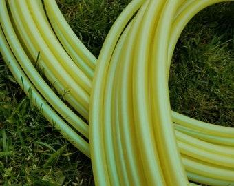 "Color Shifting ""Starfruit"" Polypro Hula Hoop--5/8"" hoop--lemon lime hoop yellow"