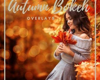 40 Autumn Bokeh Photo Overlays, Autumn Overlays, Bokeh Overlays, Photoshop Overlays, Autumn backdrop, Lights Overlay, Digital Bokeh Lights