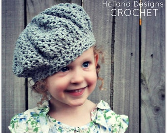 Download Now - CROCHET PATTERN Evie Cap - Sizes Baby to Adult - Pattern PDF