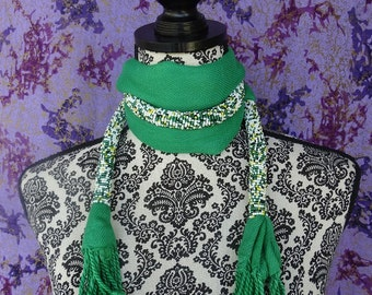 Beaded Masai Scarf, Beaded Statement Necklace, African Scarf, Accessories