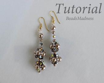 PDF tutorial beaded earrings June24_seed beads_pearls_easy_pattern