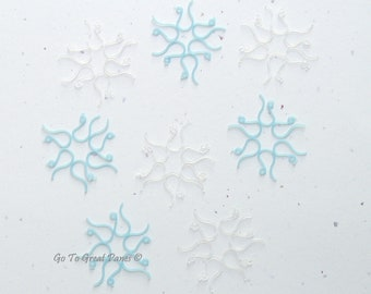 Winter Mix 96 Plastic Earring Hooks, Cool Winter Colors Blue & White - metal free, Chanukah colors, Hanukah, Hanukkah, Snowflakes