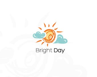 50% OFF SALE Sun Logo, Bright Logo, Clouds Logo, Watermark, Logo Design, Boutique Logo, Premade Logo, Business Logo, Branding Logo