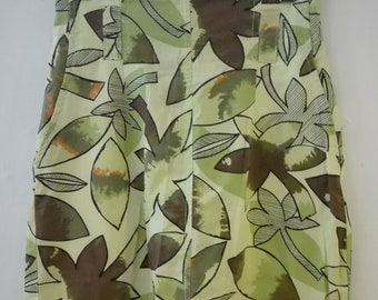 80s Tropical Green SKIRT size 38