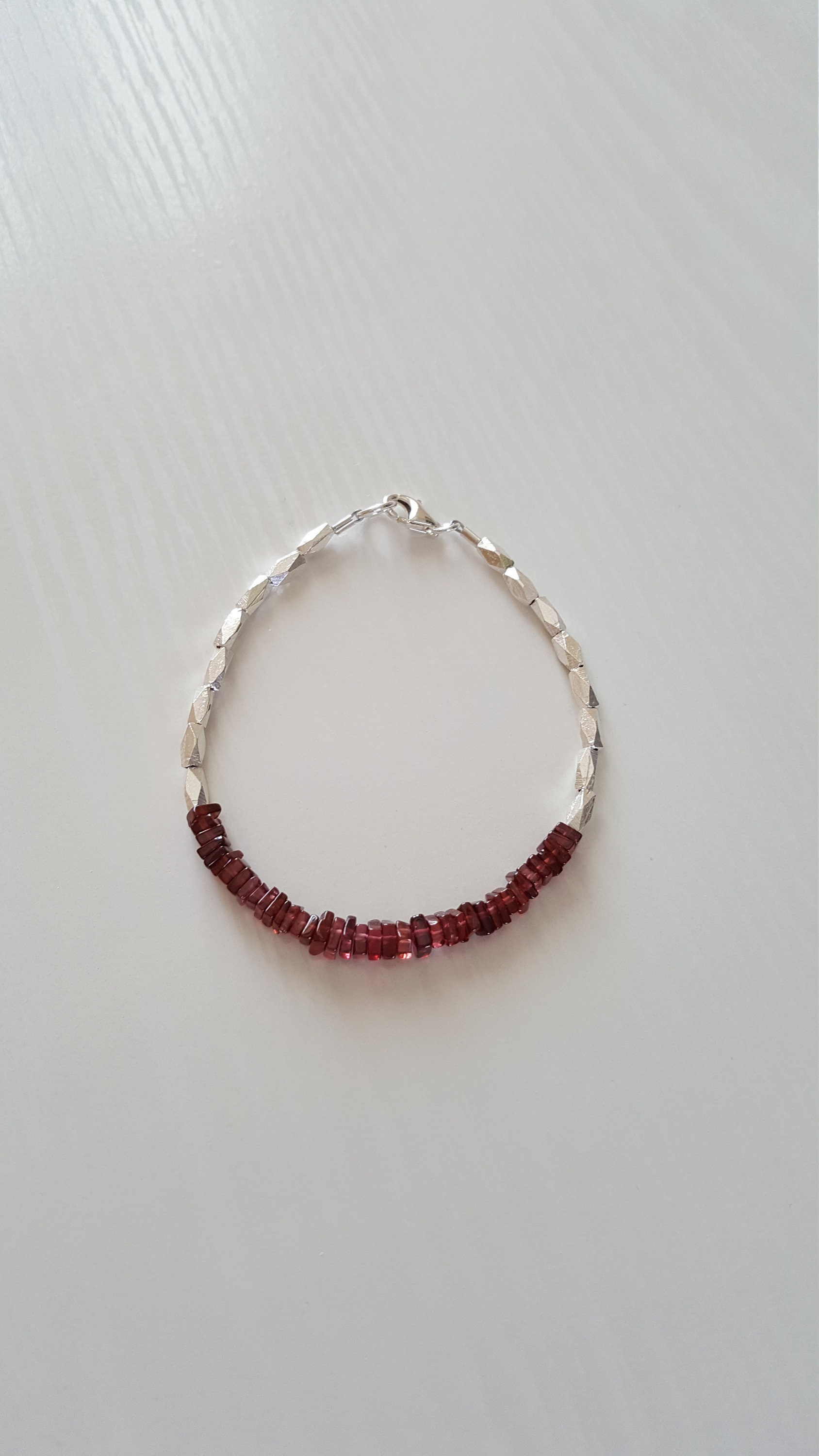jewellery auren products january garnet birthstone bracelet
