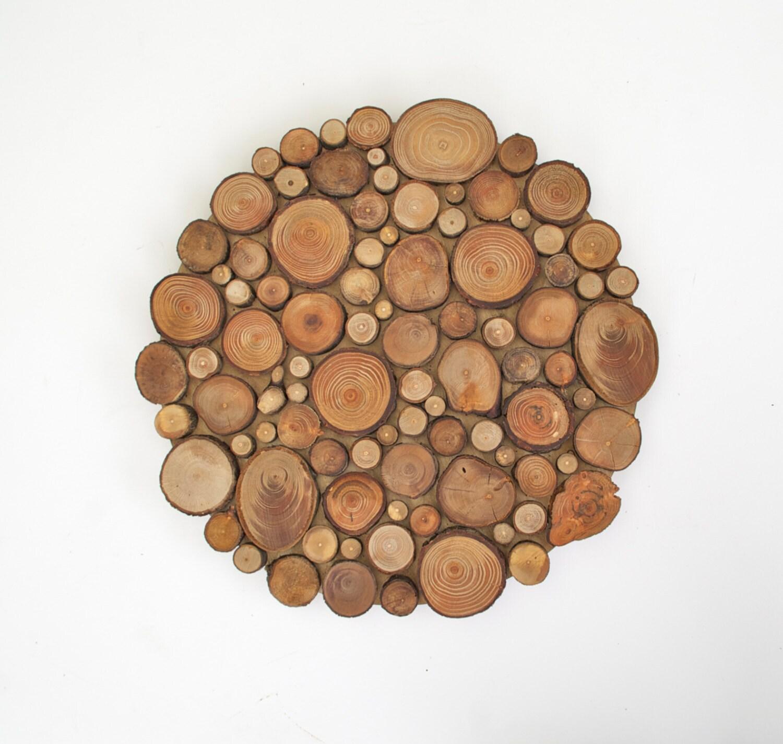 Circular Wood Wall Art Amazing Rustic Circular Wood Tree Slice Centerpiece Decorative Wall Decorating Inspiration
