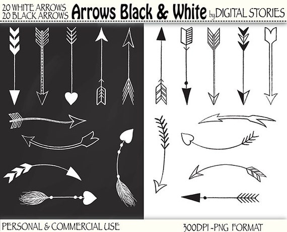 40 arrows clipart arrows black white hand drawn rh etsy com free clipart arrow pointing right free clipart arrows in a circle
