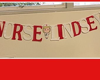 Personalized nurse banner