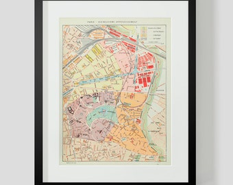 Map of Paris Dix Neuvieme 19th Arrondissement