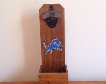 Wall Mounted Bottle Opener - Detroit Lions