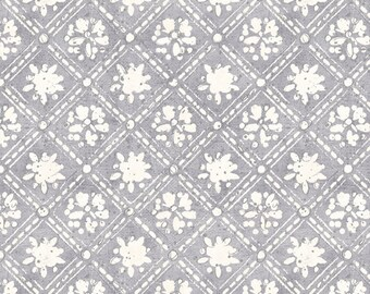Half Yard Fabric-A Bees Life-Gray Grey lattice