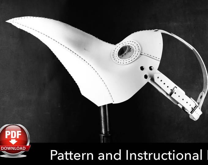Plague Doctor Mask Pattern - DIY Pattern - Halloween Mask DIY - Pdf Download
