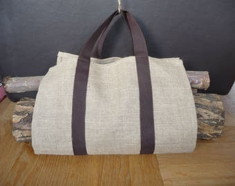 Bag for logs of ultra lightweight linen