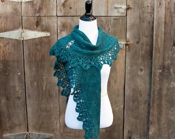 Crochet shawl pattern- Topelt Shawl crochet pattern, scarf