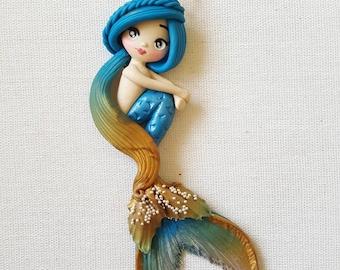 OOAK Mermaid/Siren pendant or bagcharm
