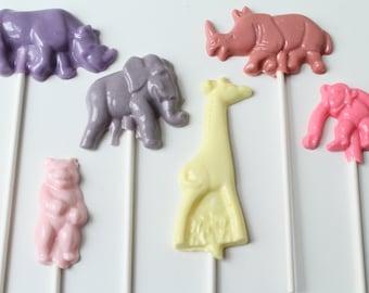 Zoo Animals Safari Lollipops 14 pieces