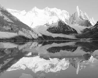 Mountain reflections print