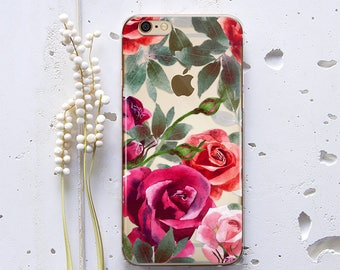 iPhone X Case Floral Samsung Galaxy Note 5 Case iPhone 8 Case Clear Case Cute iPhone Case iPhone 6s Case Phone iPhone 7 Samsung Case WC1263