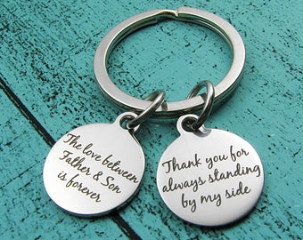 Dad keychain, Father of the groom gift from son, wedding gift for Dad, Father of the groom gift, from son to Dad, thank you gift for Dad