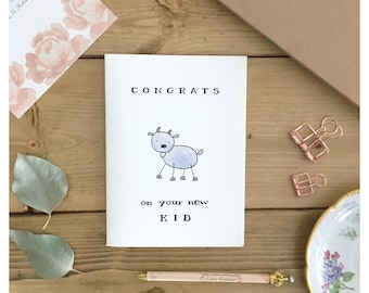 KID CARD // funny baby card, baby card, baby shower card, newborn card, card for parents, funny baby shower card, baby shower gift, baby pun