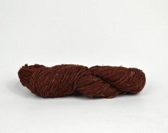Earth Brown Silk Tweed Yarn Worsted Weight Yarn - Earth Brown Tweed Yarn