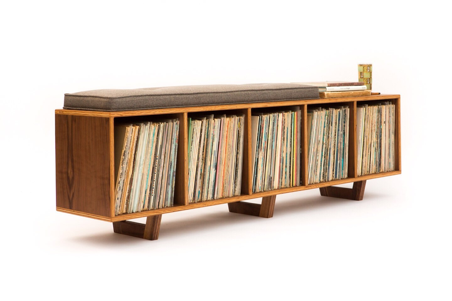 ?zoom  sc 1 st  Etsy & Vinyl LP Storage Bench Lo-Fi edition with Mid Century Modern