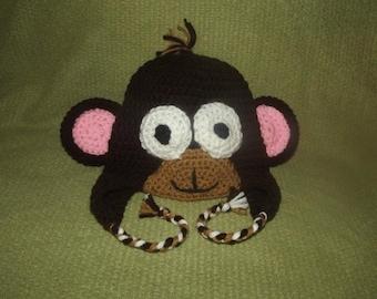Monkey Earflap beanie