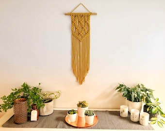 READY TO SHIP | Macrame Wall Hanging | Mustard