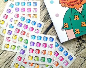 Kawaii shopping sticker, Planner Stickers, Erin Condren, Happy planner, Color crush, Kawaii stickers, Shopping bag stickers, Rainbow #1002