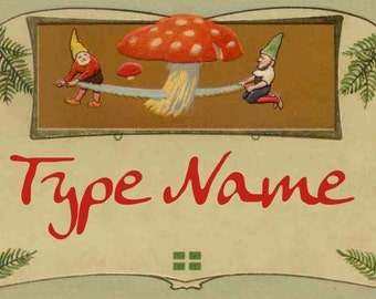 Gnomes Place Card Template