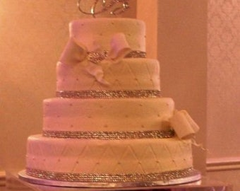 """Acrylic cake riser  - 18"""" x 18"""" sq x 5"""" deep , open bottom  - Hand crafted, made to order.   Custom sizing/color is never a problem"""