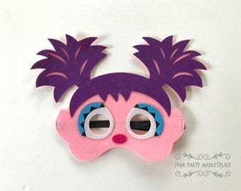 Abby Party Masks, Abby Birthday Party, Abby Party Decorations, Abby Party Favors, Elmo Party, Sesame Street Birthday, Abby, Abby Birthday