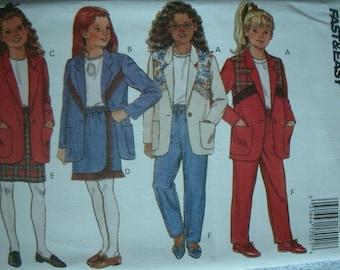 Girls Jacket, Skirt and Pants Girls Size 12-14 Butterick Fast & Easy Pattern 6922 Mint UNCUT Pattern 1993