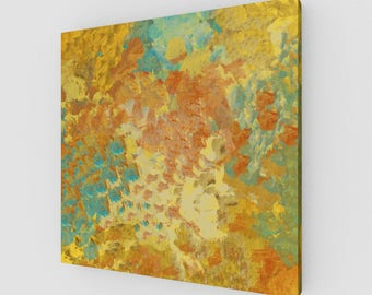 Autumn Abstract Garden Canvas Print