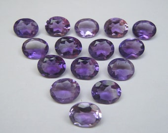 Natural Amethyst Faceted Cut Calibrated Oval shape loose semi precious gemstone size 8 x 10 mm code7719 - FOR ONE Piece