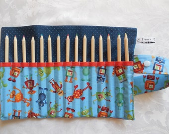 pencil roll with little monsters