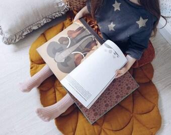 play mat, baby play mat linen, linen mat, pinecone, pinecone mat, linen pinecone, mat for baby, washed linen mat