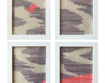 Four 5x7 Handwoven Wall Hanging