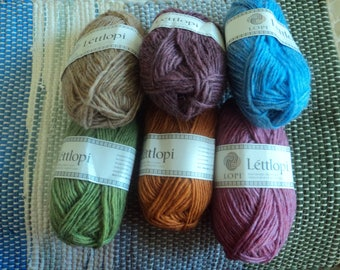 6 Colors Lettlopi Icelandic 100% Wool Worsted Weight Yarn 50g (1.7 oz) approx.  (109 yd) Lopi