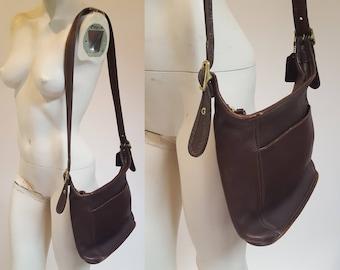 vintage COACH Deep Brown Leather Bag / Purse