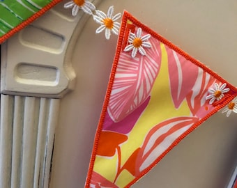 Lilly Pulitzer Fabric Banner Bunting Pennants Flags Garlands Daisy Ribbon made ready to send