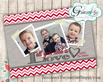 Valentine Photo Card, All You Need is Love