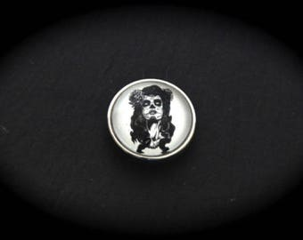 Cabochon 18mm for jewelry - Zombie pinup fancy pressure