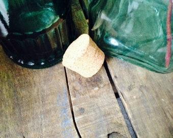 Pair of Green Glass Bottles